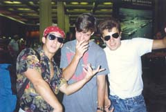 Anton with Karl and friend leaving for Harvard, September 1988
