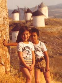 Anton with Erica in Spain, Summer 1979