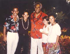 Anton with his family in Hawaii, Summer 1985