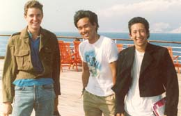 Anton with friends, Summer 1987