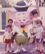 With cousins Randy and Billy at Disney, 1977