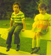 Waiting for the schoolbus with Erica, 1977