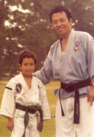 Outdoor training with Master Kim, May 1979