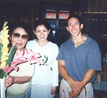 Anton with Erica and Grandma in Japan, 1995