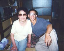 Anton with Grandma in Japan, 1995