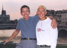 Anton and Jim in Paris, Summer 1998