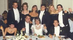 At Laurie's wedding, 1989