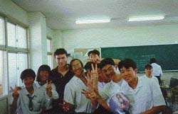 Anton with students, 1994